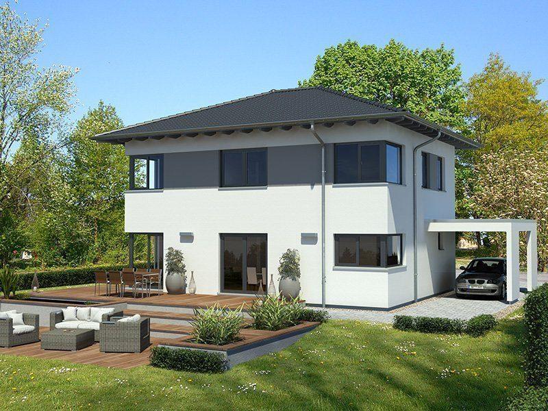 Effizienzhaus 55 L267 WD - Eine große Wiese vor einem Haus - Gartenhaus