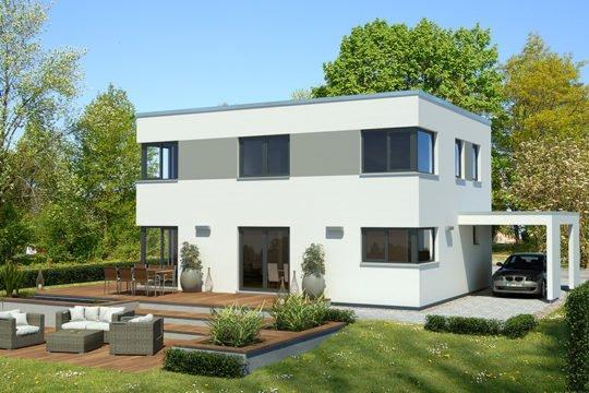 Effizienzhaus 55 L267 FD - Eine große Wiese vor einem Haus - Bauhaus