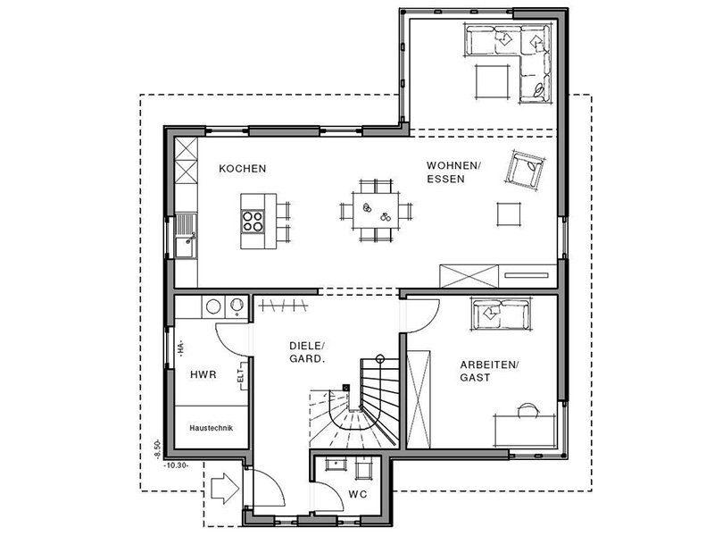Freiraum Cube - Eine Nahaufnahme von einer Karte - Gebäudeplan