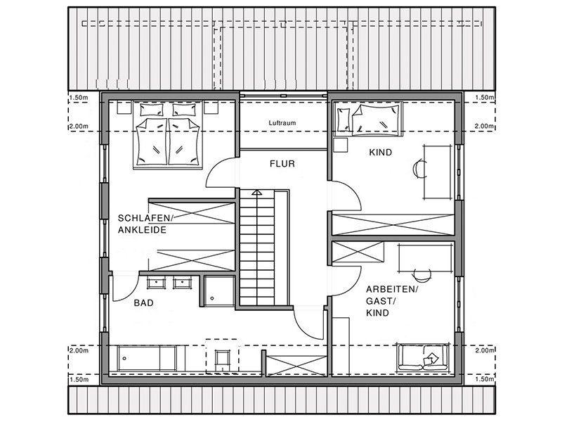 Linear - Eine nahaufnahme von text auf einem schwarzen hintergrund - Gebäudeplan