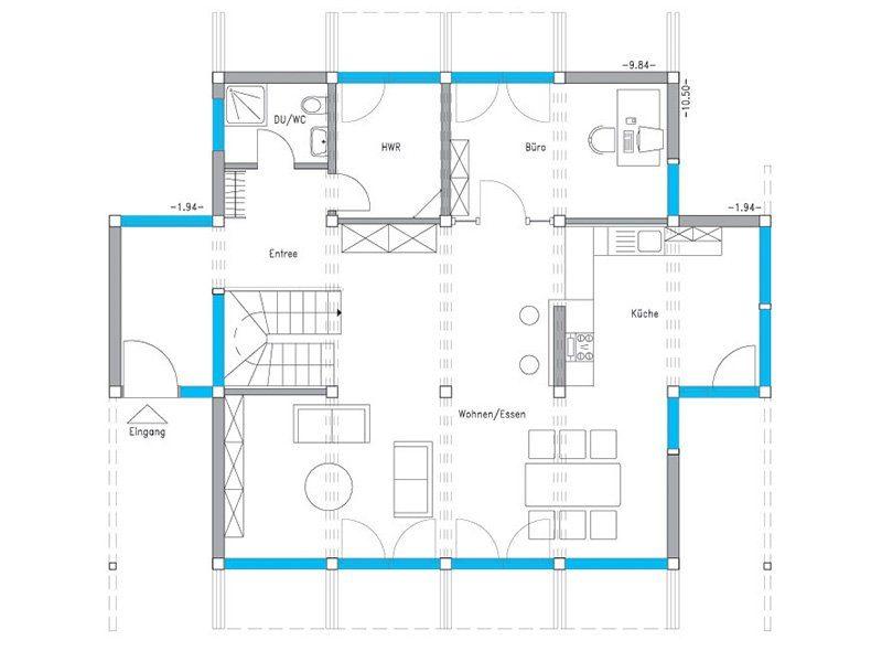 Musterhaus Ästhetik Mannheim - Eine Nahaufnahme von einer Karte - Gebäudeplan