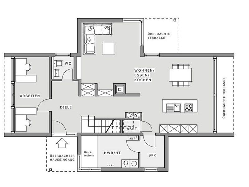 Musterhaus Hameln - Ein Screenshot eines Videospiels - Gebäudeplan