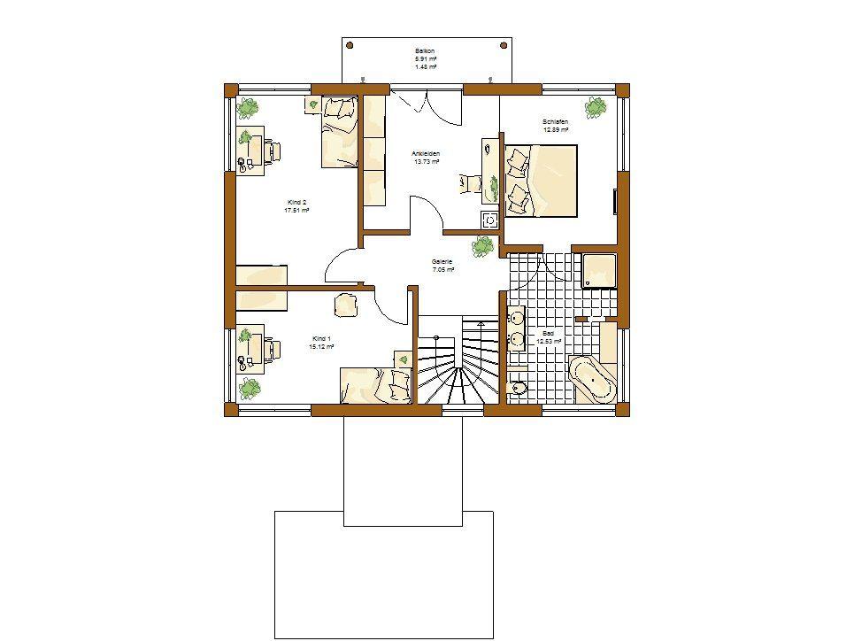 Musterhaus Ventura - Eine Nahaufnahme von einer Karte - Gebäudeplan