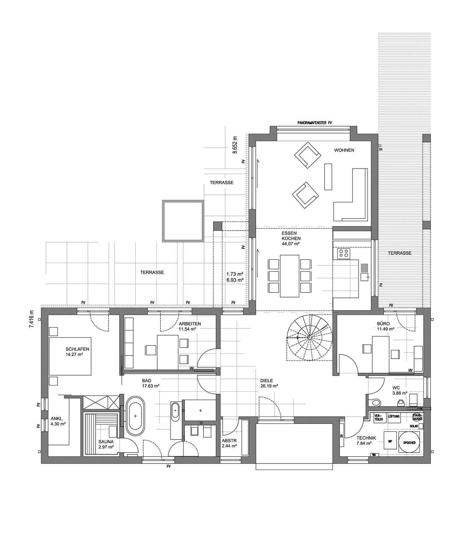 L³- Luxhaus Lifestyle Loft - Eine Nahaufnahme von einem Logo - Gebäudeplan