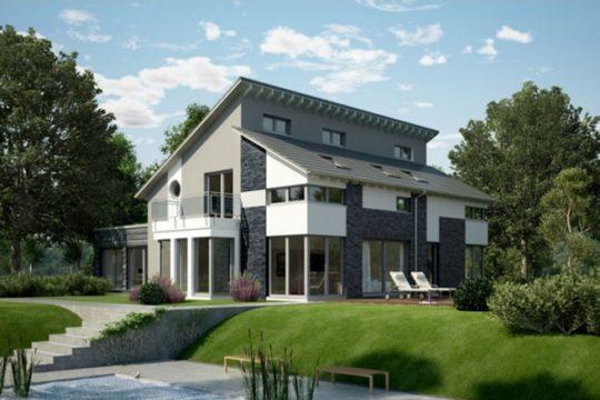 FN 104 – 134 B V4 - Ein Haus mit Bäumen im Hintergrund - OKAL GmbH