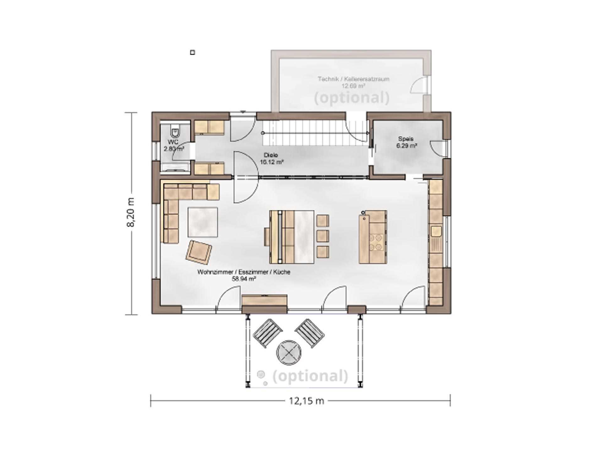 Musterhaus Casa Vita - Eine Nahaufnahme eines Geräts - Gebäudeplan