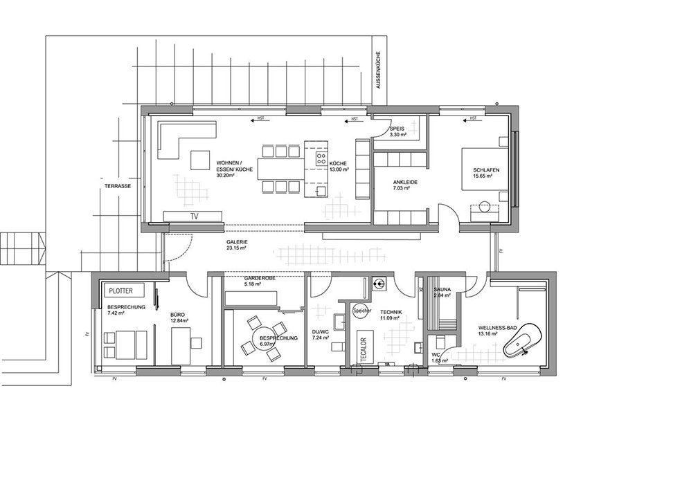 Musterhaus Fellbach Open - Eine nahaufnahme von text auf einem weißen hintergrund - Gebäudeplan