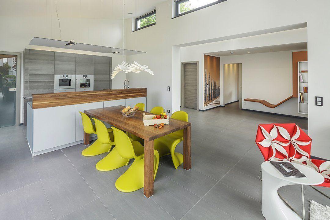 Musterhaus Fellbach Open - Ein Wohnzimmer - Die Architektur