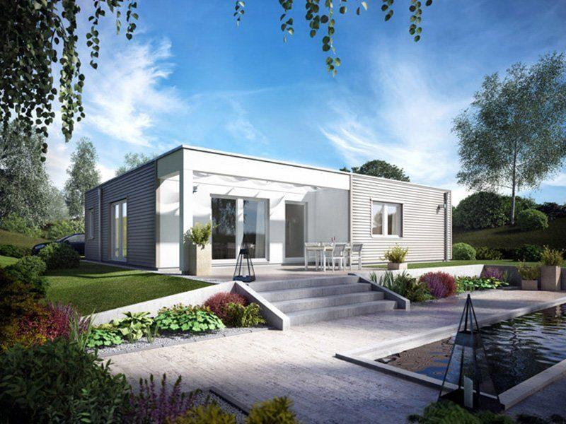 Plan E 10-115.1 - Ein Haus mit Bäumen im Hintergrund - SchworerHaus KG