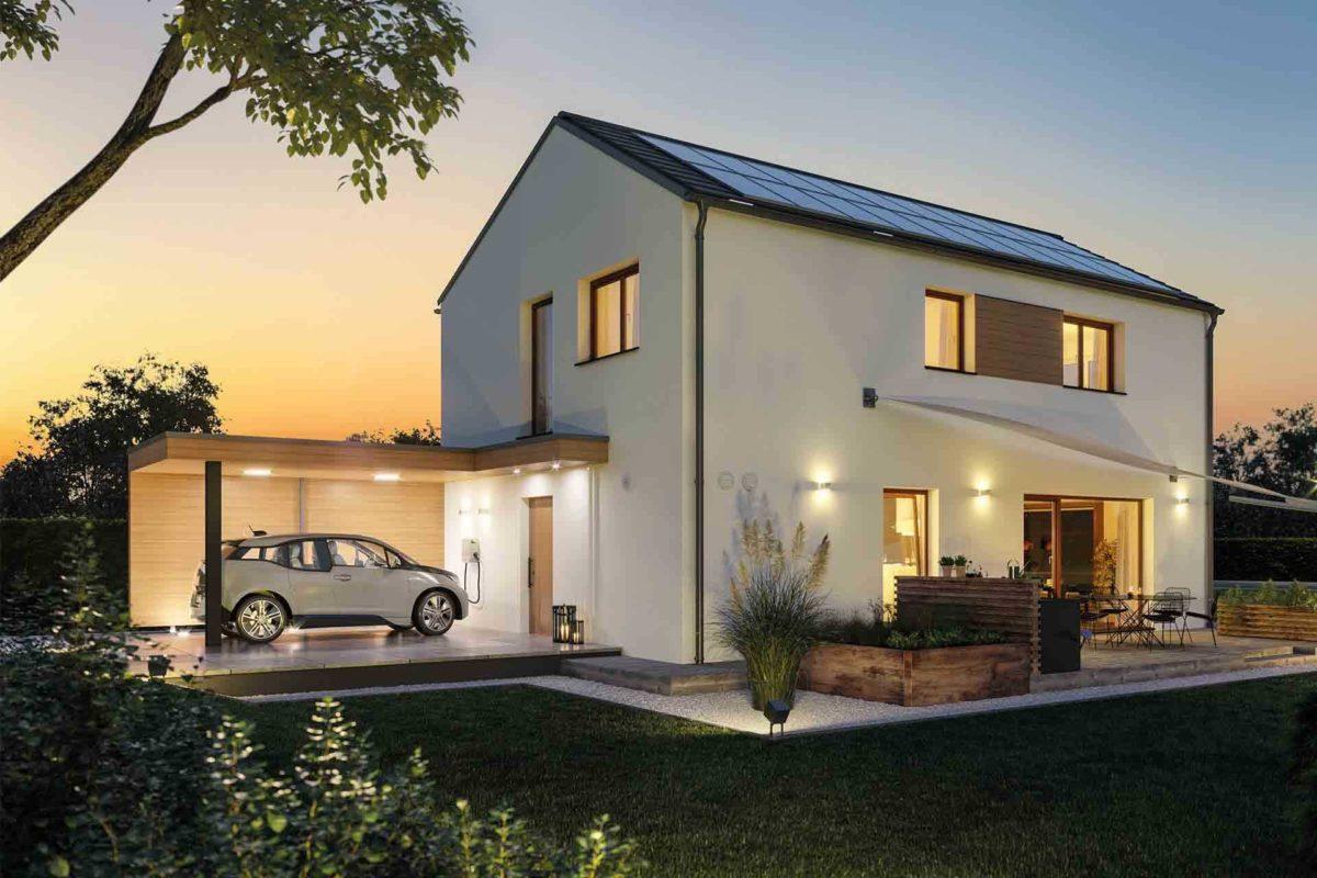 Musterhaus Sunshine - Ein Blick auf ein Haus - Haus