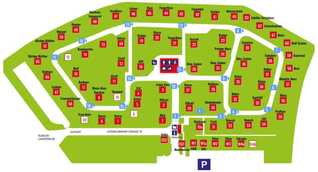 Lageplan Musterhauspark Bad Vilbel