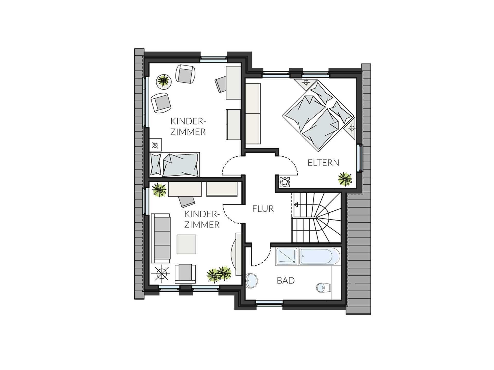 ProStyle 128 Musterhaus Mannheim - Eine Nahaufnahme einer Uhr - Gebäudeplan