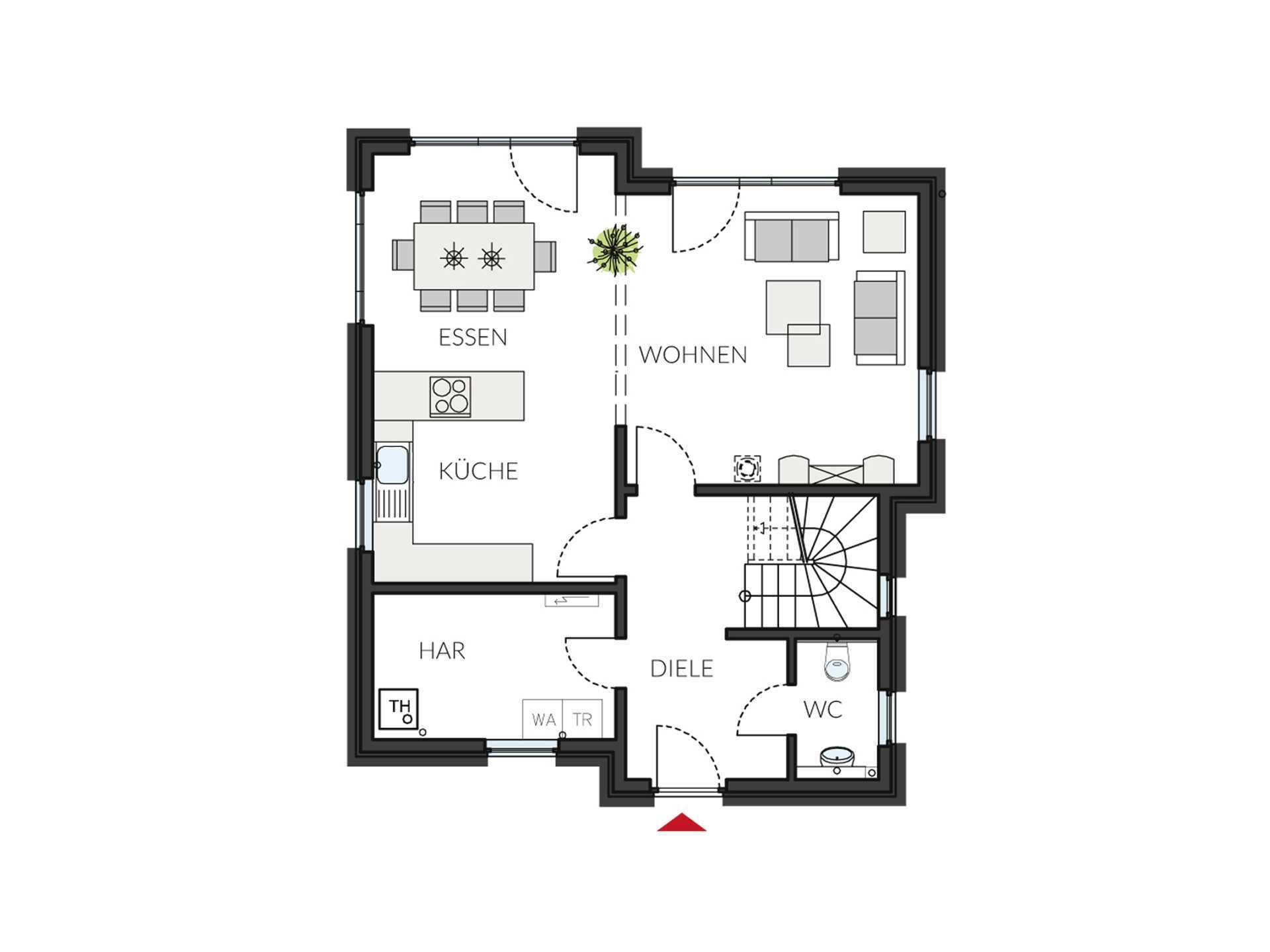ProStyle 128 Musterhaus Mannheim - Eine Nahaufnahme von einem Logo - Gebäudeplan
