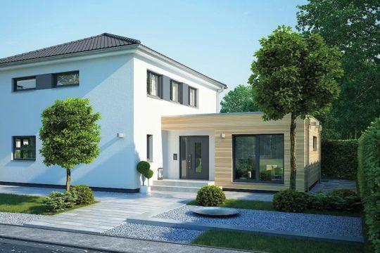 VILLA 165 - Ein Haus mit Bäumen im Hintergrund - Fertighaus