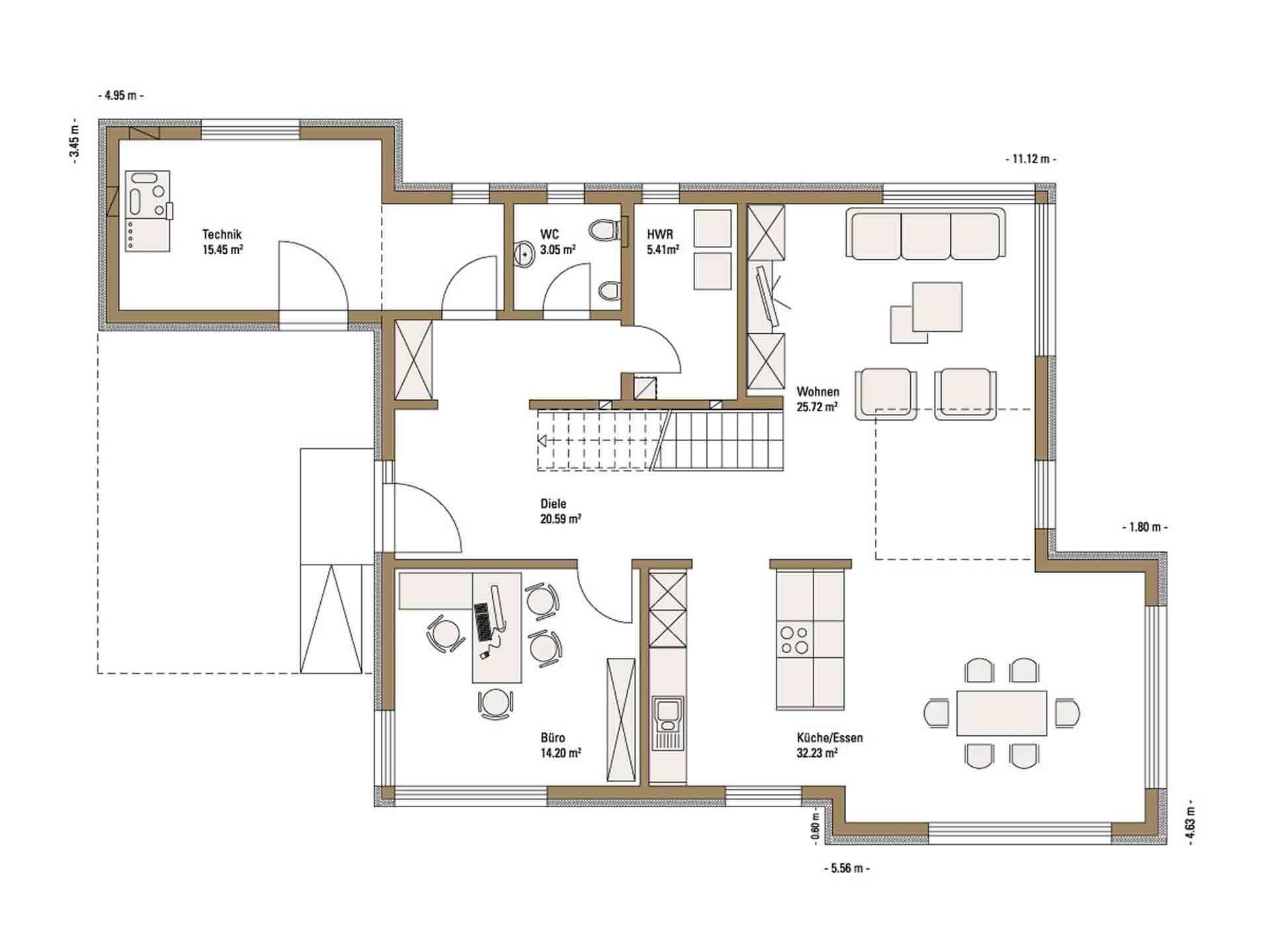 Musterhaus Future - Eine Nahaufnahme von einer Karte - Gebäudeplan