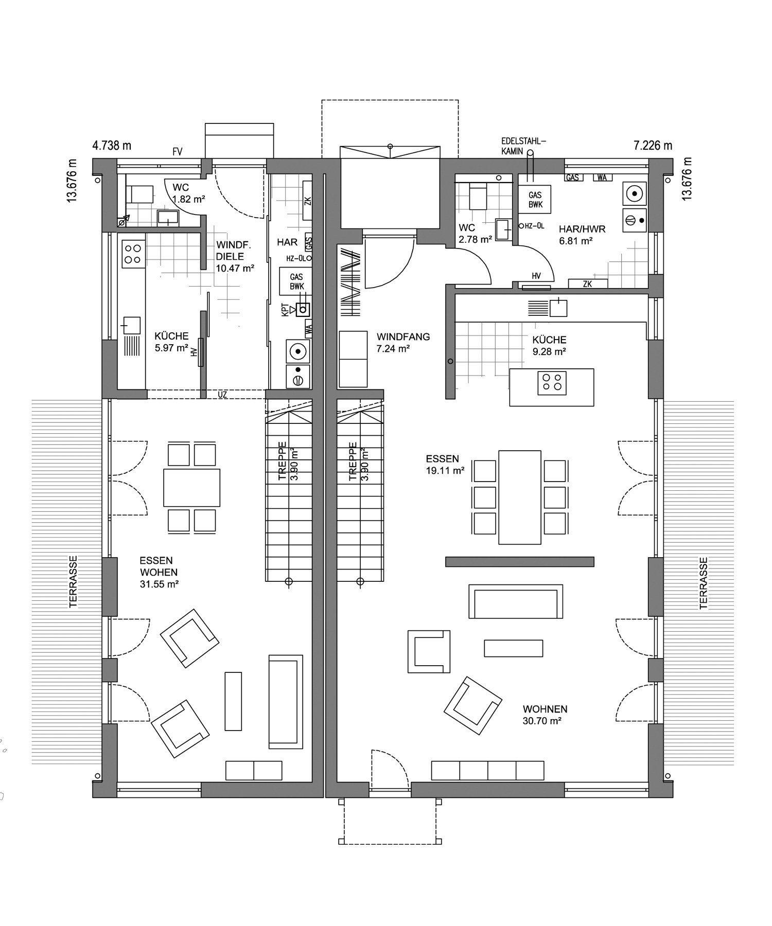 Musterhaus Mannheim - Eine Nahaufnahme einer Uhr - Gebäudeplan