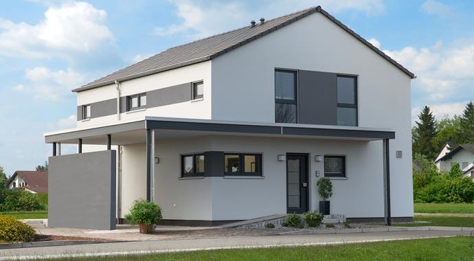 Aktionshaus MEDLEY 3.0 – Musterhaus Werder - Ein kleines haus im hintergrund - Bauplanung Sven Jäger