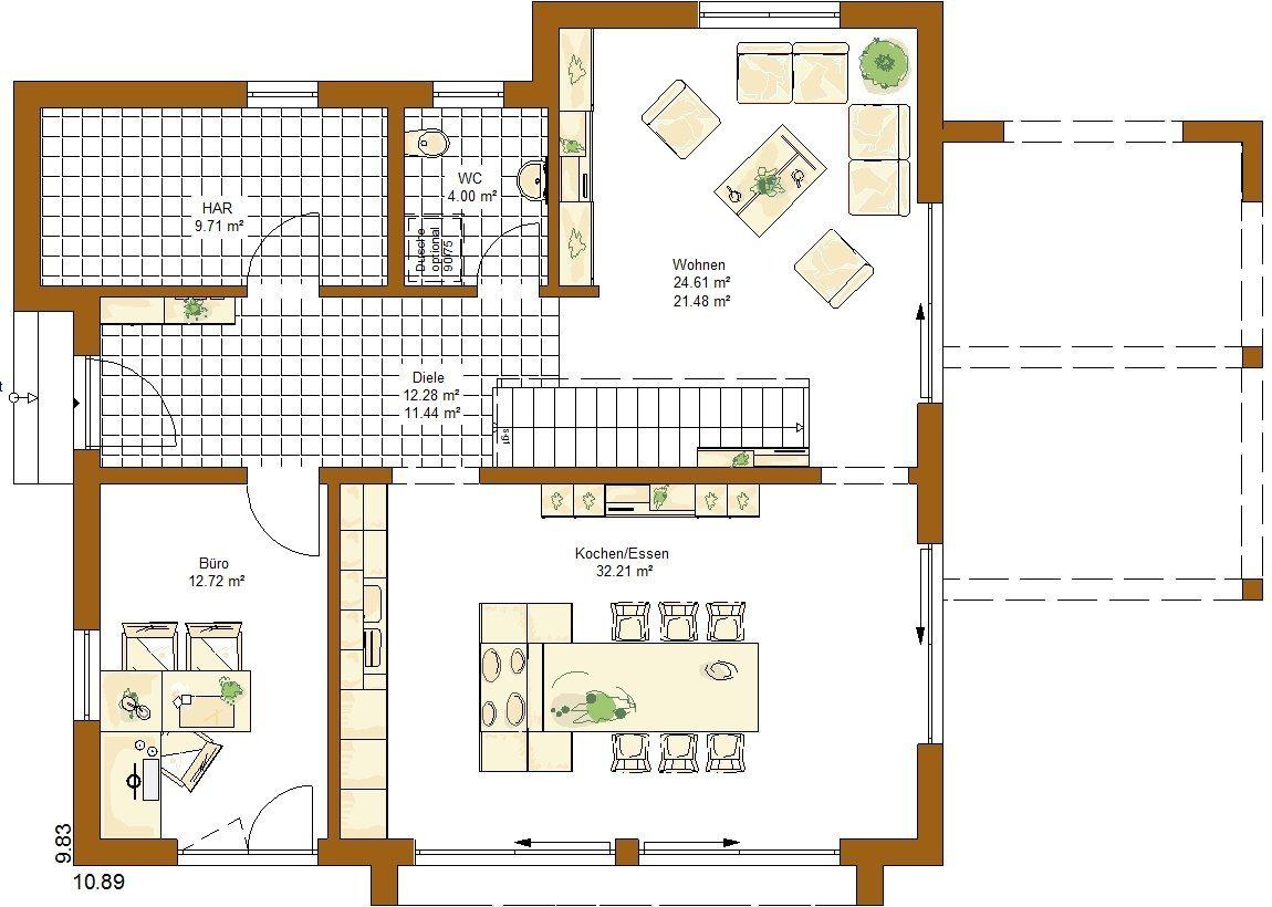 Musterhaus Ancona - Eine Nahaufnahme von einer Karte - Gebäudeplan