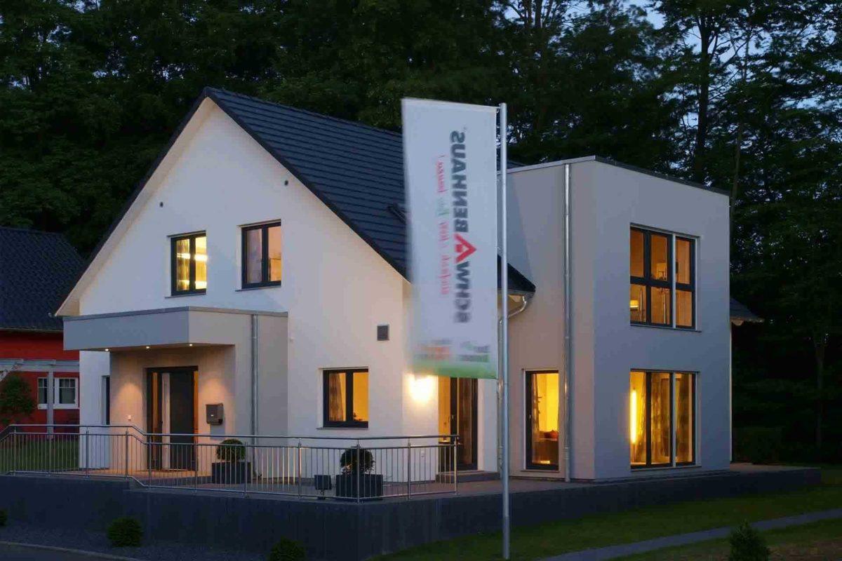 Musterhaus Bad Vilbel - Ein schild vor einem haus - Schwabenhaus Musterhaus Bad Vilbel