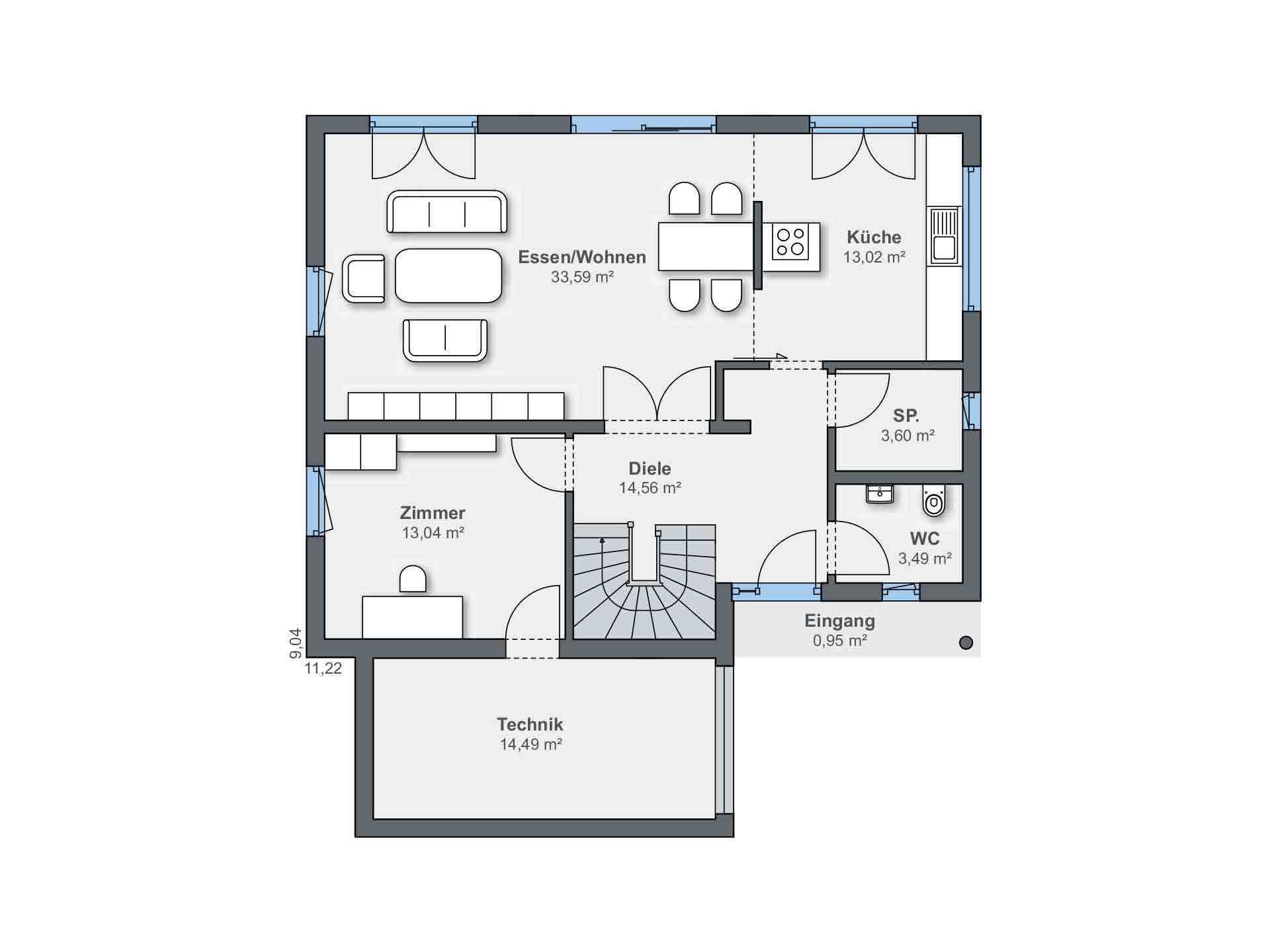 generation5.5 Bad Vilbel - Ein Screenshot eines Handys - Gebäudeplan
