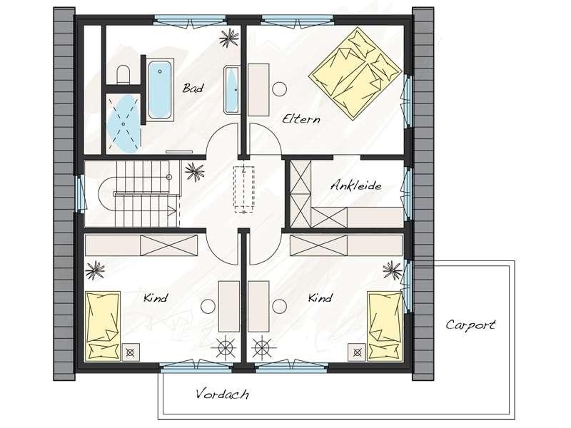Musterhaus Wuppertal - Eine Nahaufnahme von einem Stück Papier - Gebäudeplan