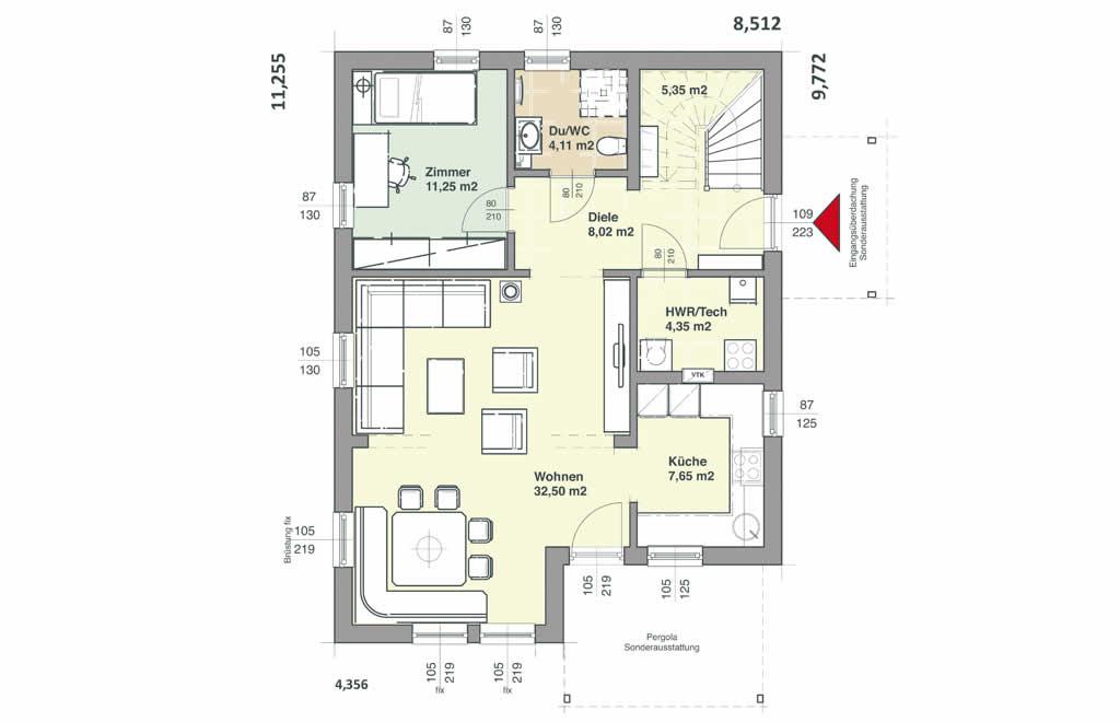Comfort 143 - Ein Screenshot eines Handys - Gebäudeplan