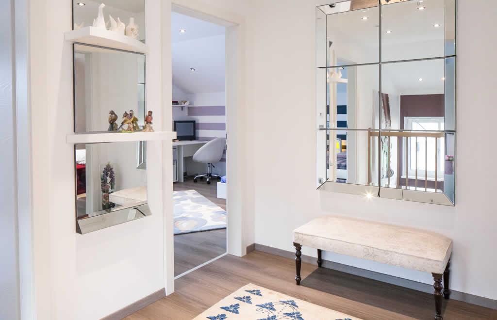 Living 157 - Ein Blick auf ein Wohnzimmer - ELK Fertighaus GmbH