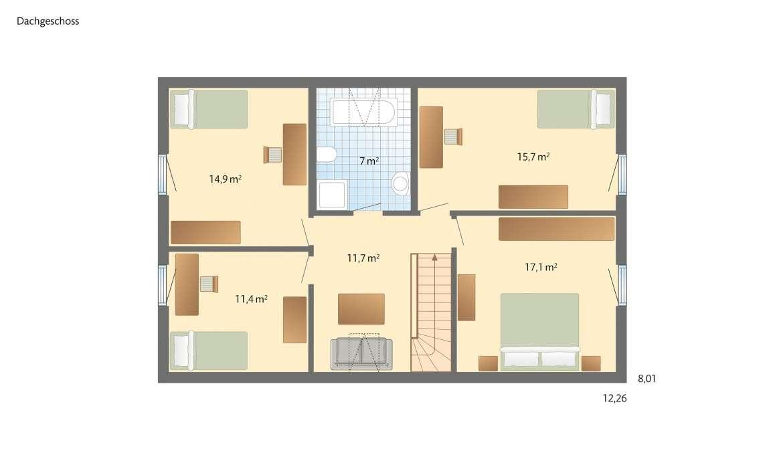 Musterhaus Glücksburg - Ein Screenshot eines Handys - Gebäudeplan