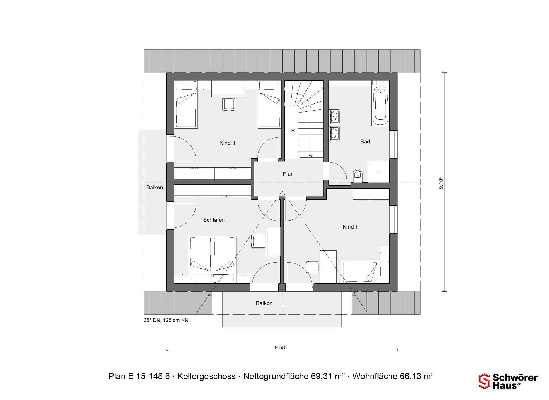 Musterhaus Offenburg - Eine Nahaufnahme einer Uhr - Gebäudeplan