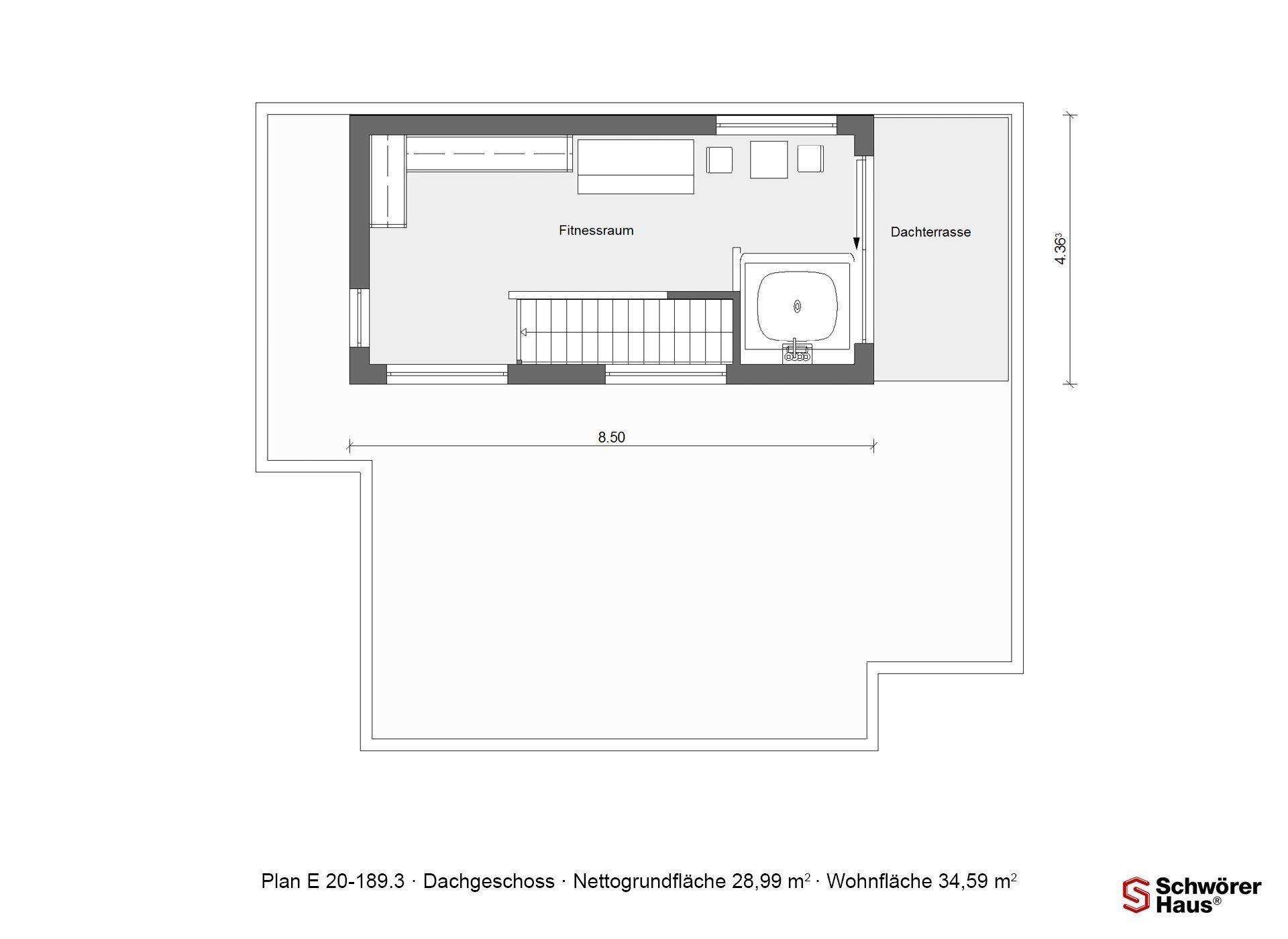 Kubushaus modern - Ein Screenshot eines Handys - Grundfläche (Gebäude)