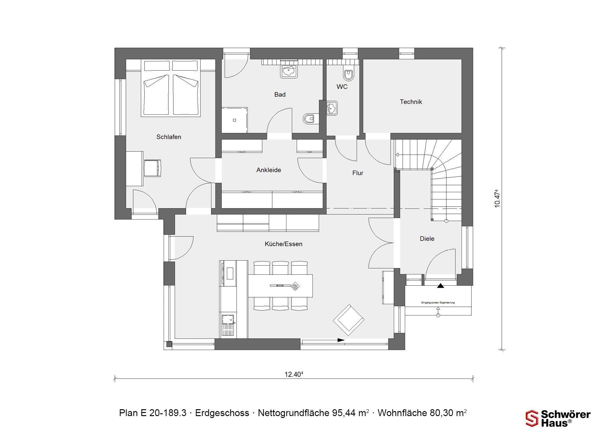 Kubushaus modern - Eine Nahaufnahme eines Geräts - Gebäudeplan