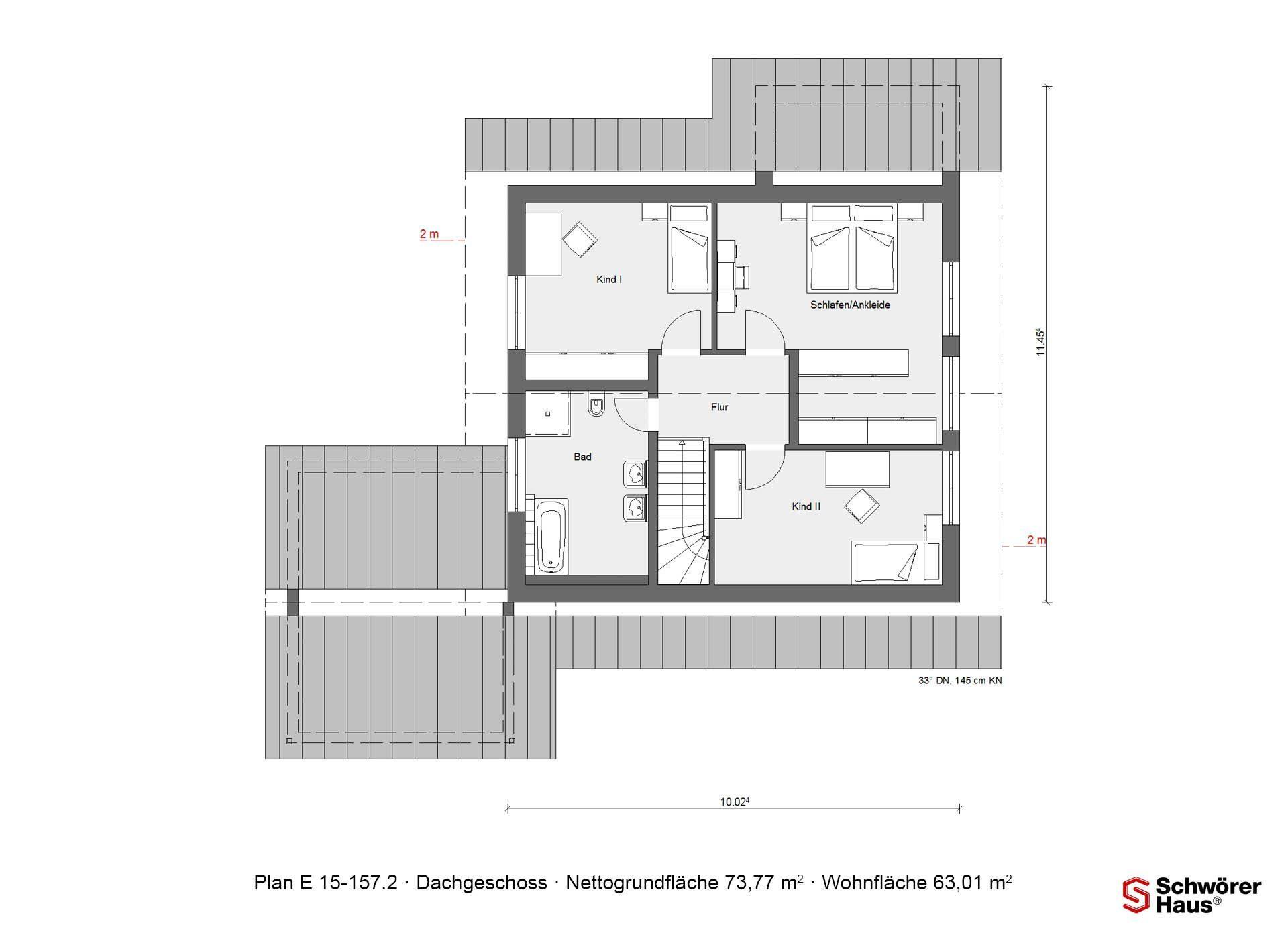 Musterhaus Hessdorf - Eine Nahaufnahme eines Geräts - Gebäudeplan