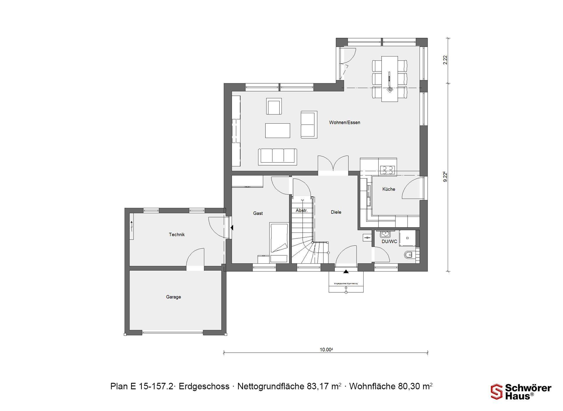 Musterhaus Hessdorf - Ein Screenshot eines Handys - Gebäudeplan