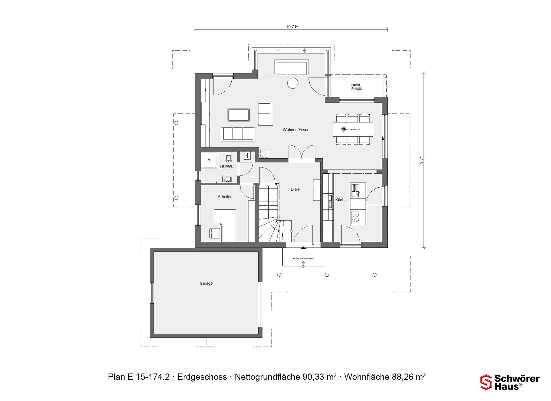 Musterhaus Estenfeld - Eine Nahaufnahme eines Geräts - Gebäudeplan
