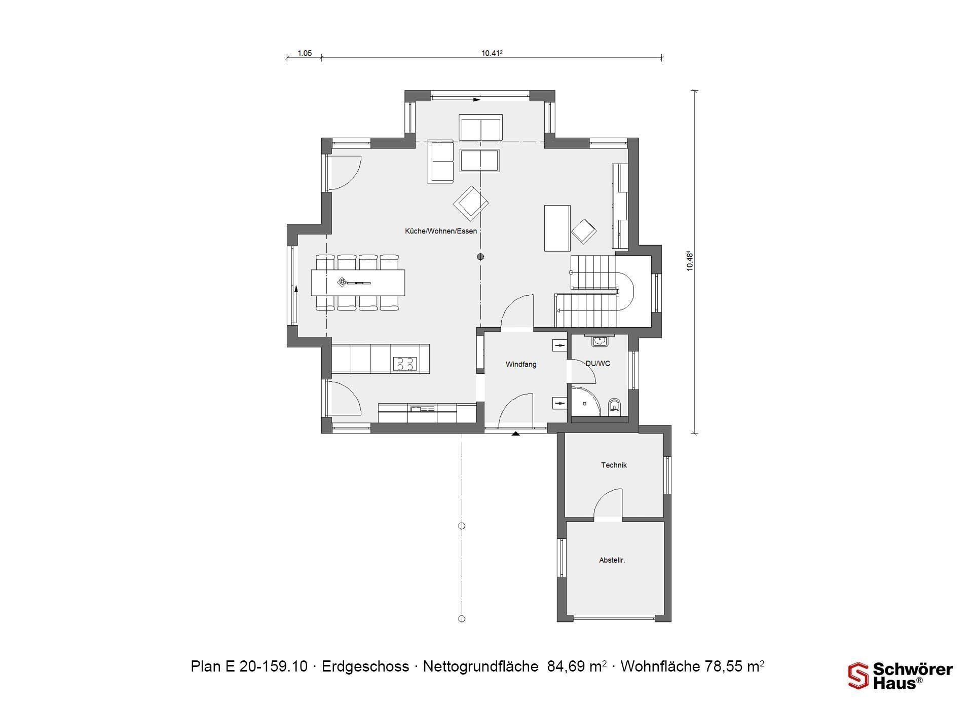 WärmeDirektHaus Plan 319.2 - Eine Nahaufnahme von einem Logo - Gebäudeplan
