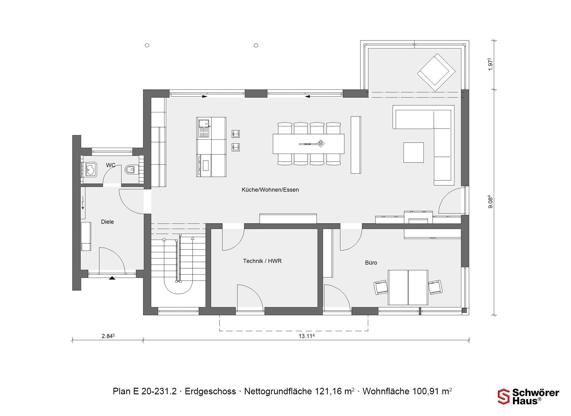 Modernes Z-Dach - Eine Nahaufnahme einer Uhr - Gebäudeplan