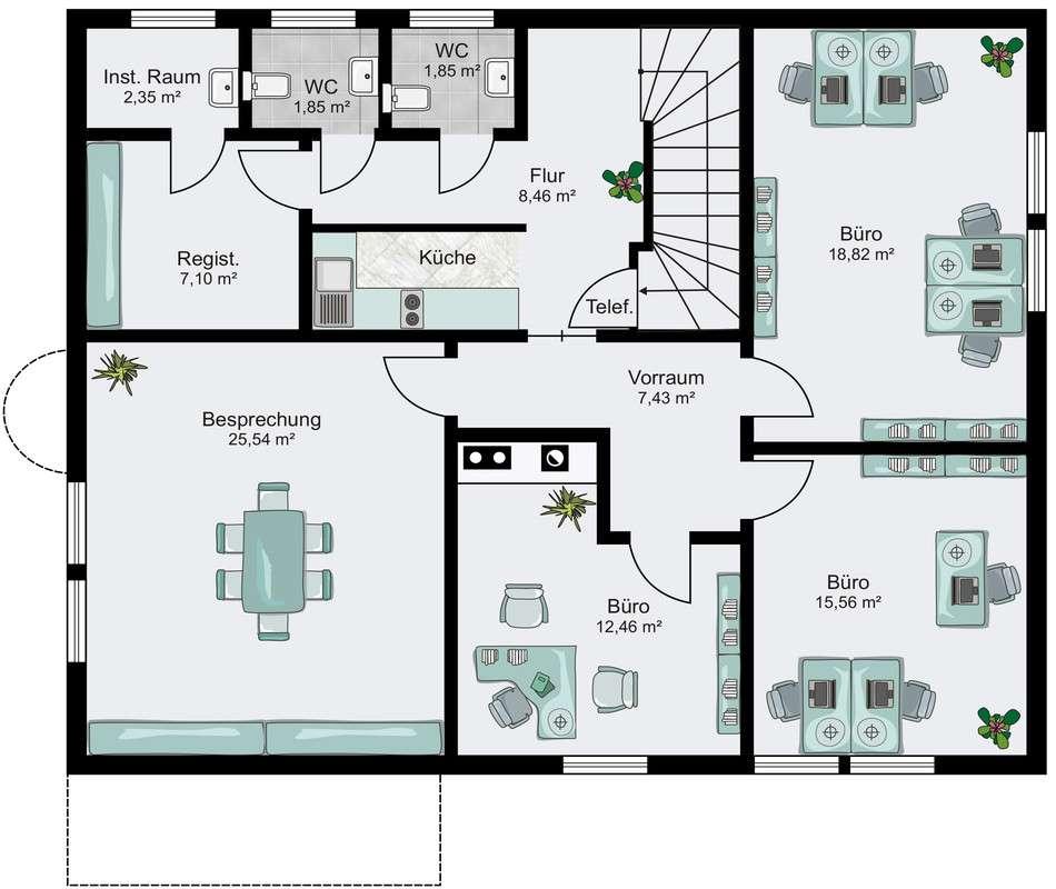 Automatisch gespeicherter Entwurf - Ein Screenshot eines Handys - Gebäudeplan
