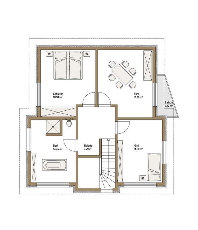 Musterhaus Villingen-Schwenningen - Ein Screenshot eines Videospiels - Gebäudeplan