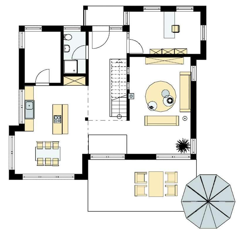 Musterhaus Köln - Eine Nahaufnahme einer Uhr - Gebäudeplan