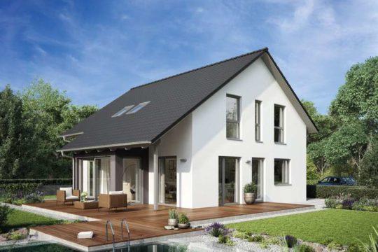 VARIANT 35-174 - Ein Haus mit Bäumen im Hintergrund - Hanse Haus