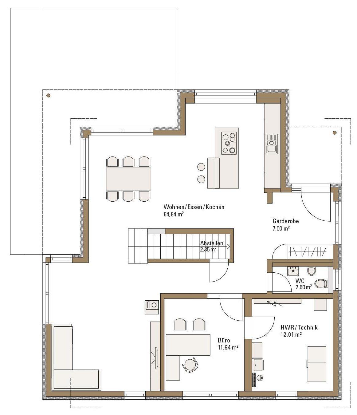Musterhaus RELAX - Eine Nahaufnahme von einem Stück Papier - Gebäudeplan