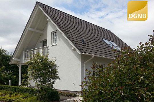 Musterhaus Erfurt - Ein schild vor einem haus - Haus