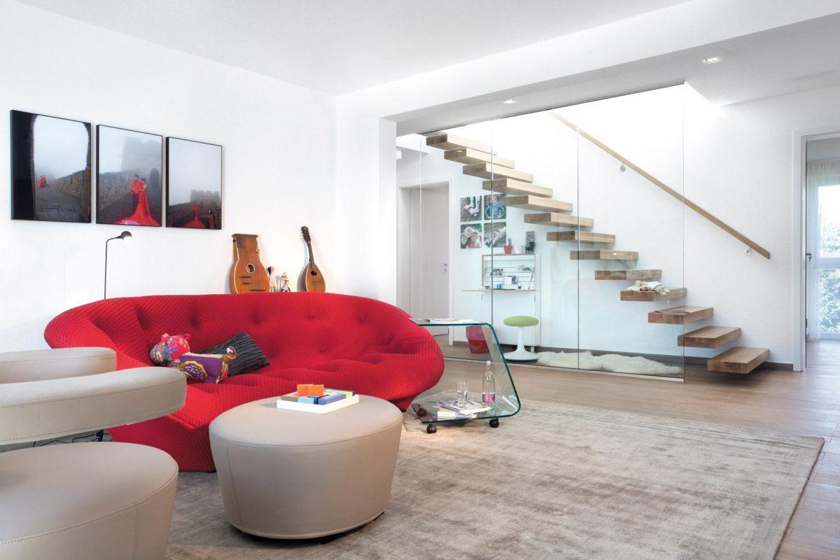 Kubushaus modern - Ein Screenshot eines Wohnzimmers - SchwörerHaus KG Musterhaus Wuppertal