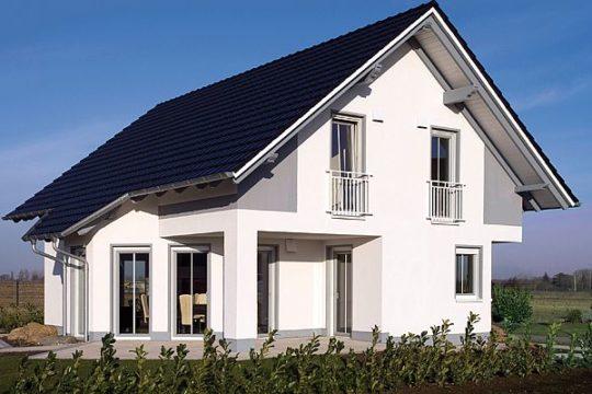 Automatisch gespeicherter Entwurf - Ein großes weißes Gebäude vor einem Haus - Haus
