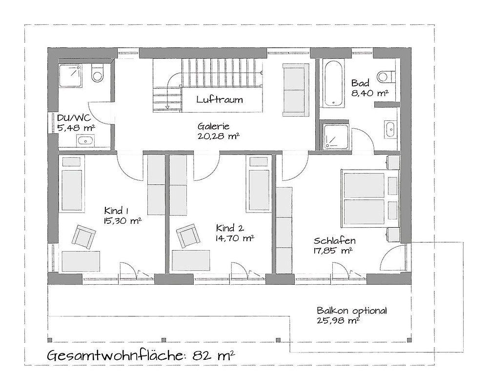 Stadtvilla Setros - Eine Nahaufnahme von einer Karte - Gebäudeplan