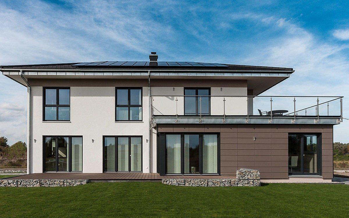Automatisch gespeicherter Entwurf - Ein Haus, das ein Schild an der Seite eines Gebäudes hat - Fassade