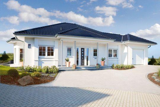 Musterhaus Riviera - Ein großes weißes Haus - Rensch-Haus GmbH
