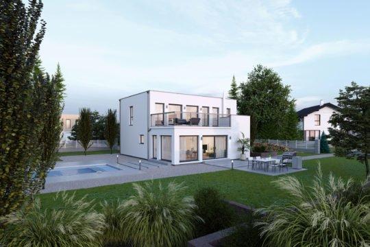Trendline 164 - Ein Haus mit Bäumen im Hintergrund - Einfamilienhaus