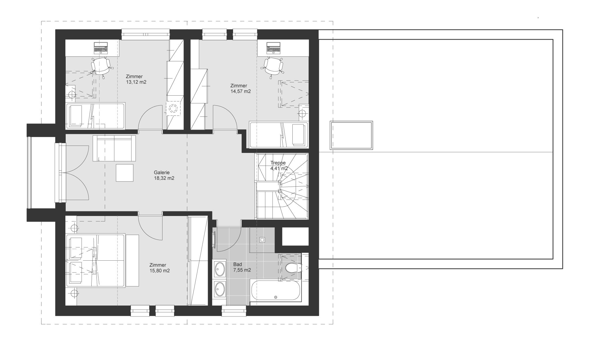 ELK Haus 153 - Ein Screenshot eines Videospiels - Gebäudeplan