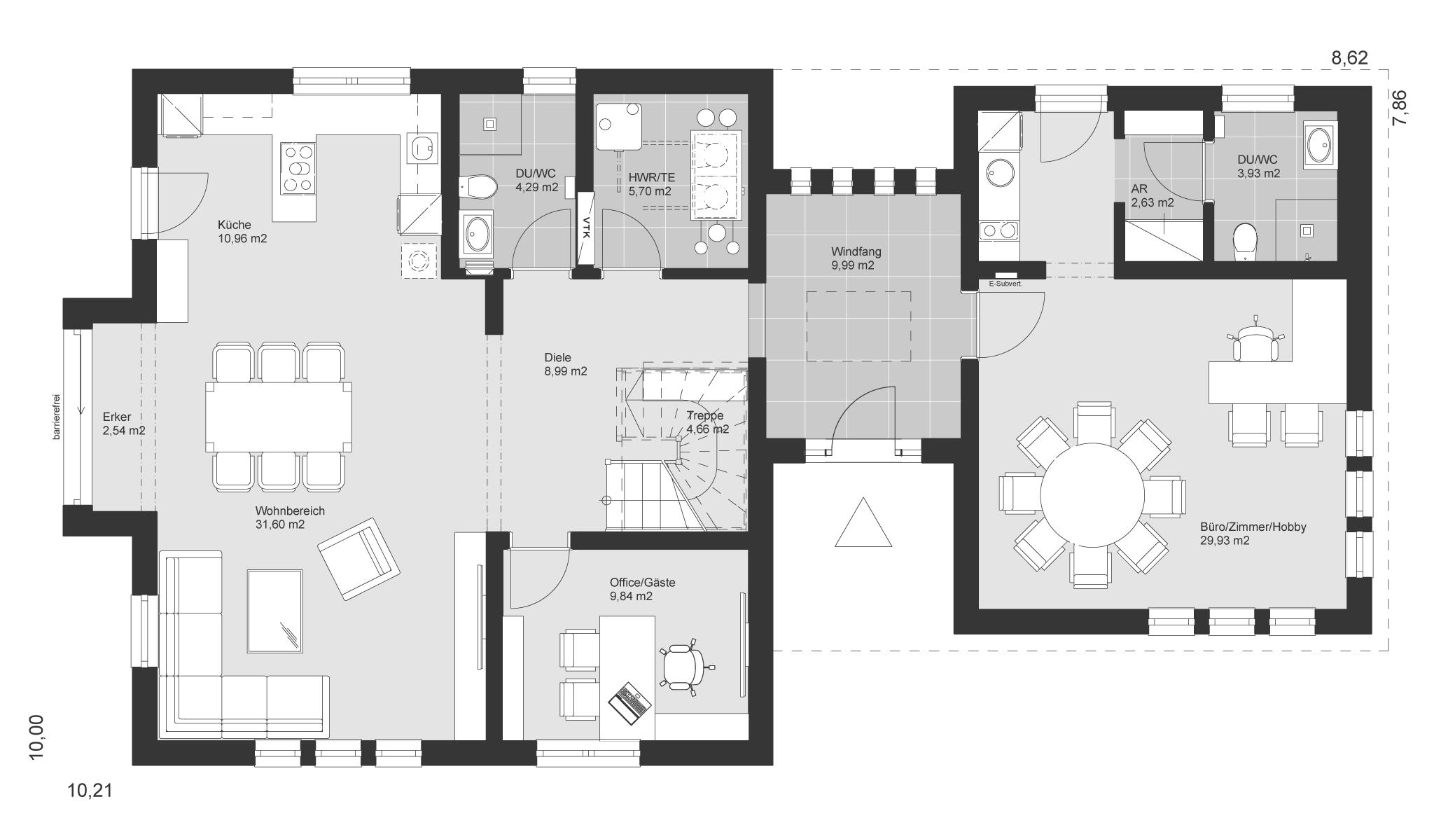 ELK Haus 153 - Eine Nahaufnahme einer Uhr - ELK Fertighaus GmbH